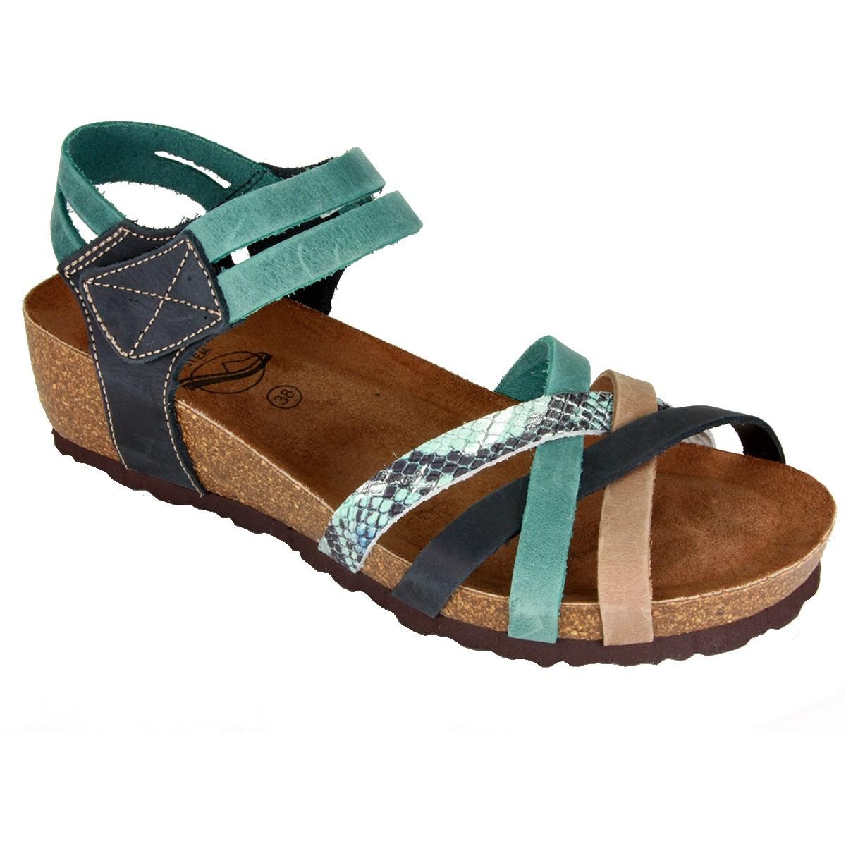 Sabatini 4008 Multicolor Rettile - Sandalo comodo - Vera pelle