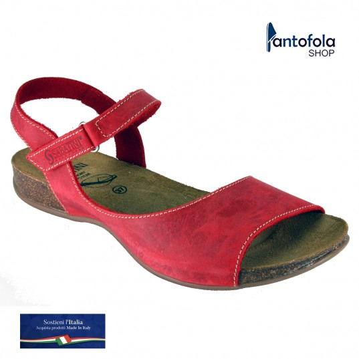 Sabatini 4008 Multicolor Giallo - Sandalo comodo - Vera pelle