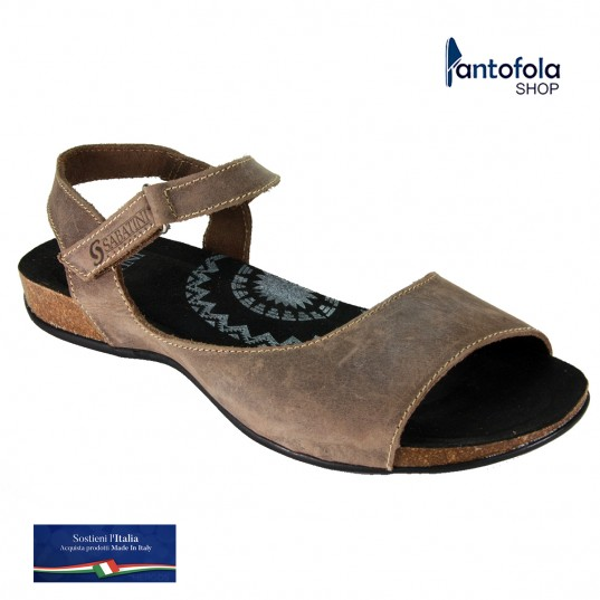 Sabatini 4600 Rosso - Sandalo comodo - Vera pelle - Memory System