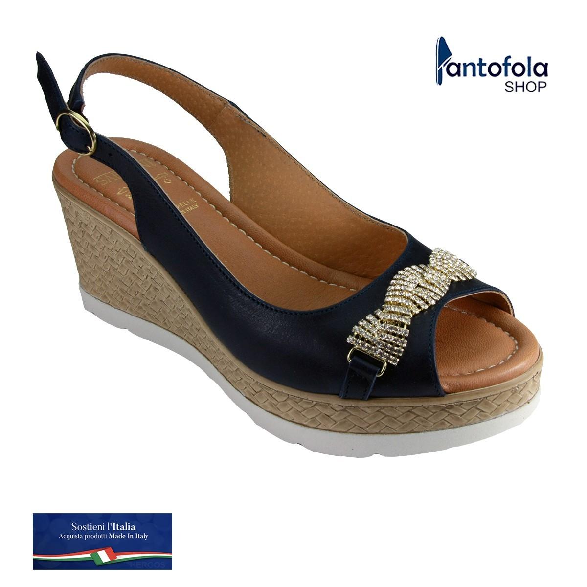 Sabatini S 7123 Blu - Calzatura elegante e comoda, appoggio plantare morbido - Vera pelle
